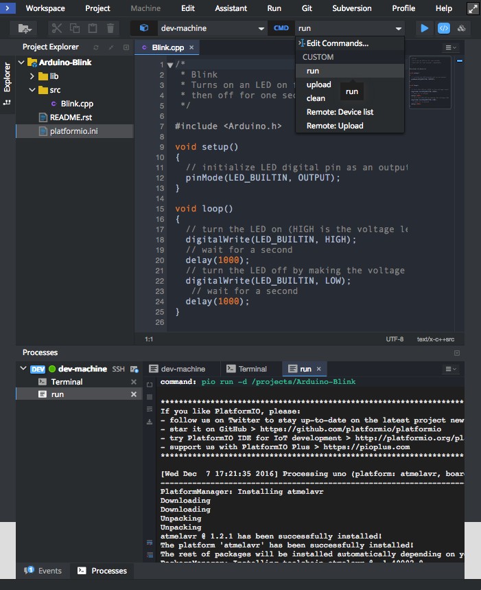 Eclipse Che — PlatformIO 4 1 0b1 documentation
