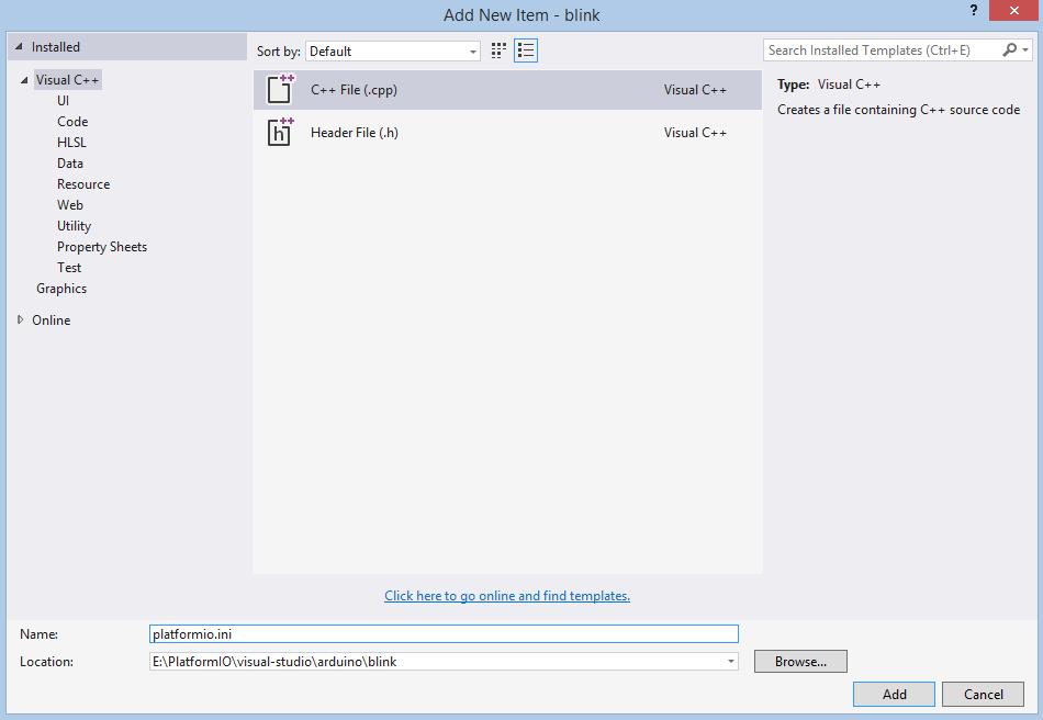 Visual Studio — PlatformIO 4 0 1b3 documentation
