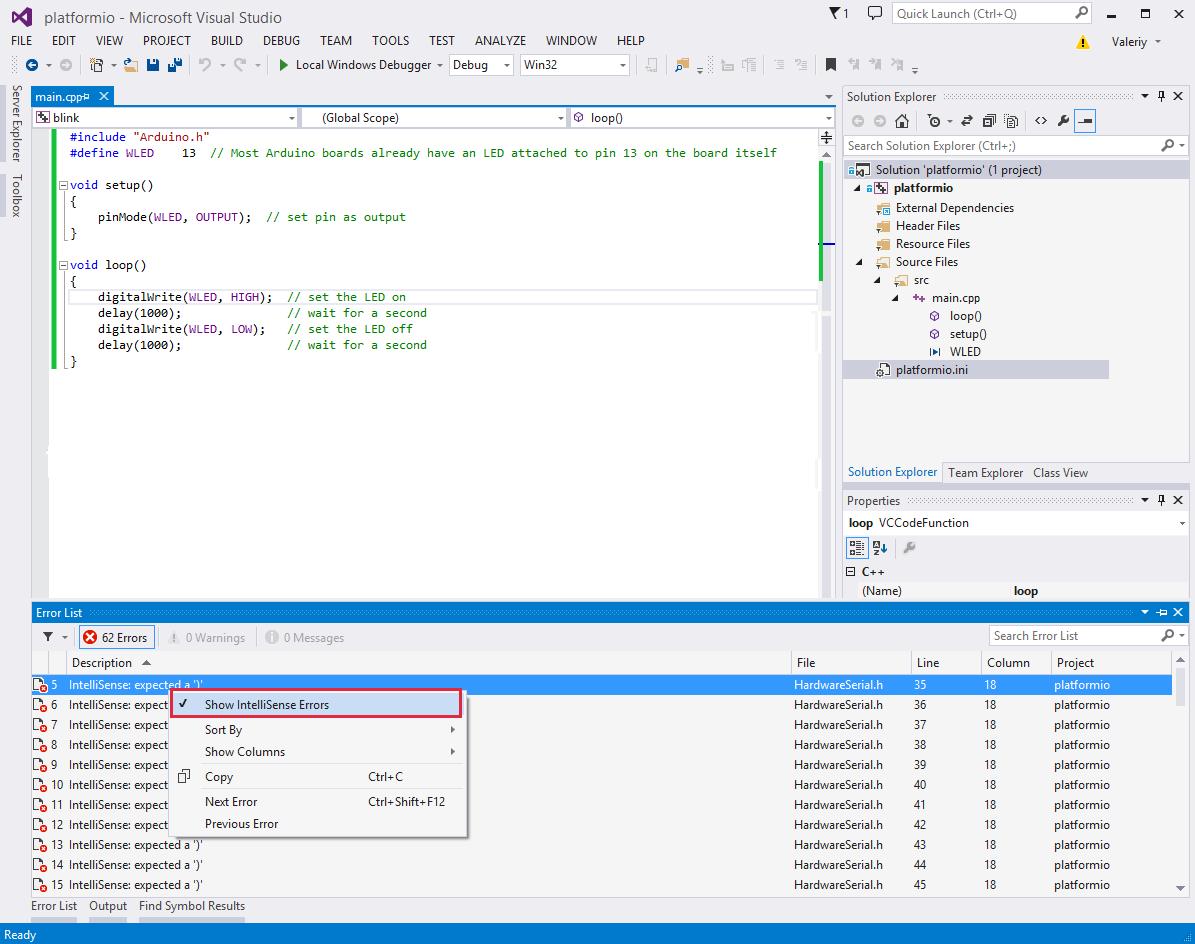 Visual Studio — PlatformIO 4 1 0b1 documentation