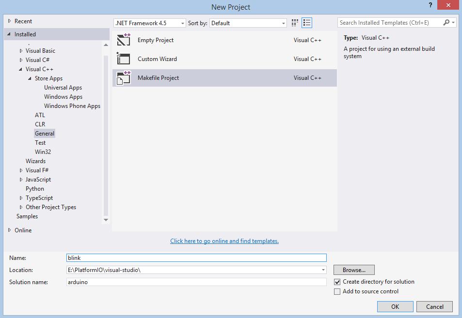 Visual Studio — PlatformIO 4 1 0a1 documentation