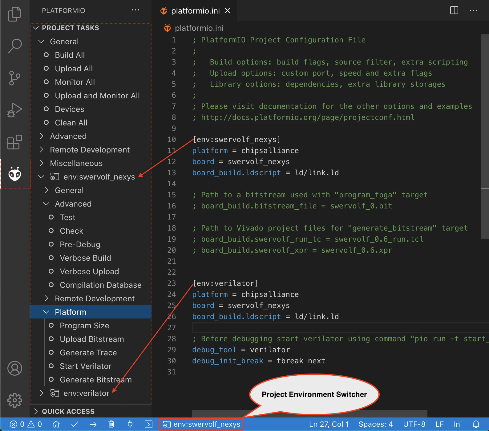 PlatformIO IDE for VSCode — PlatformIO 4 1 0a1 documentation