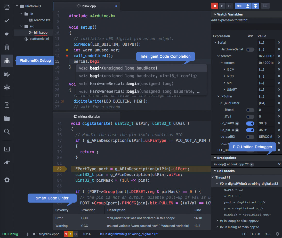 PlatformIO IDE for Atom